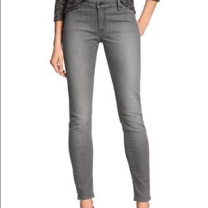 Banana Republic skinny fit grey jeans